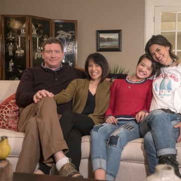 "Cast of Disney's ""Andi Mack,"" left to right: Stoney Westmoreland, Lauren Tom, Peyton Elizabeth Lee, Lilan Bowden"