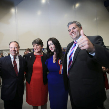 Image: Members of the Democratic Unionist Party