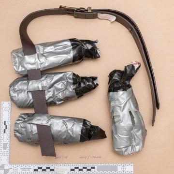 Image: Fake explosive belt