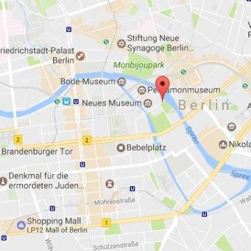 Image: Map showing Berlin's Friedrichsbrucke