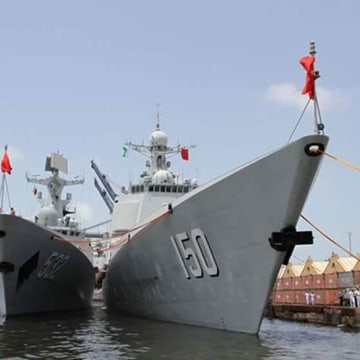 Image: Chinese warships arrive in Karachi, Pakistan