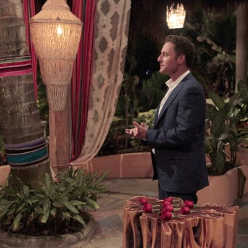"Image: A rose ceremony for the ""Bachelor in Paradise."""