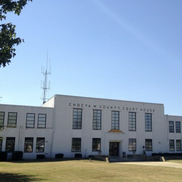 Image: The Choctaw County courthouse in Ackerman, Mississippi.