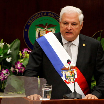 Image: Ricardo Martinelli pictured while in office in 2013