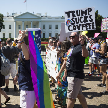 Image: Thousands Gather For Equality March For Unity And Peace In Washington DC