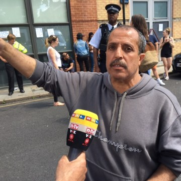 Image: Ahmad Chellat found some of his family after the London tower fire but five other relatives remain missing