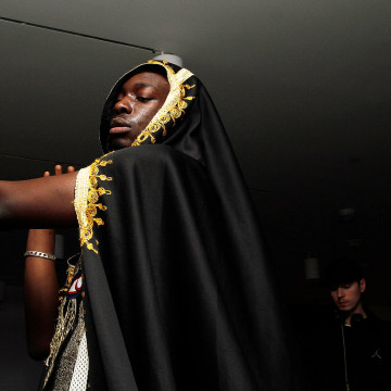 Image: Rapper Le1f performs at the Brooklyn Museum's 4th annual Brooklyn Artists Ball