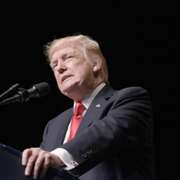 Image: President Donald Trump speaks at the Manuel Artime Theater in Miami, Florida, on June 16, 2017.