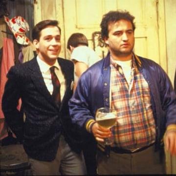 "Image: Tom Hulce, John Belushi, Stephen Furst in ""National Lampoon's Animal House"""