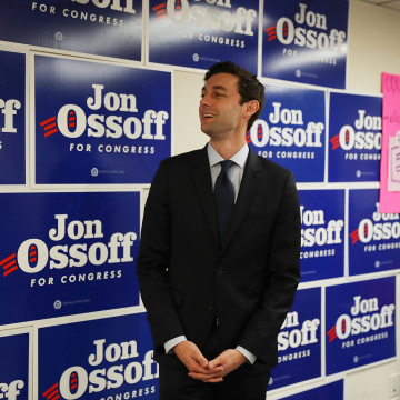 Image: Democratic Congressional Candidate In Georgia's Special Election Jon Ossoff Campaigns In Georgia