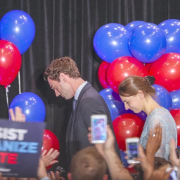 Image: Jon Ossoff election night party in Atlanta, Georgia