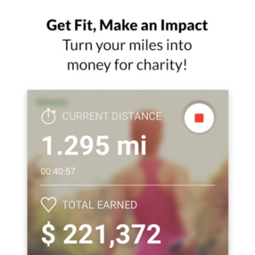 Image: Charity Miles Walking and Running Distance Tracker app