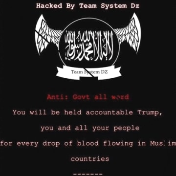 IMAGE: Pro-ISIS message on Ohio sites