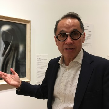 Agustin Arteaga, Dallas Museum of Art director, stands before a painting by David Alfaro Siqueiros in June 2017.