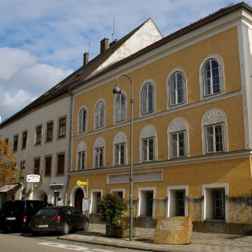 Image: The house where Adolf Hitler was born in Braunau am Inn, Austria
