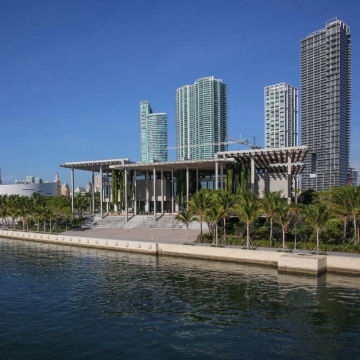 Image: Perez Art Museum Miami, east facade August 2014