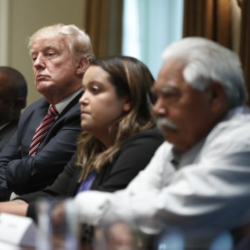 Image: Donald Trump meeting with immigration crime victims