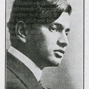 Image: Portrait of Dhan Gopal Mukerji printed in April 1916 issue of The Hindusthanee Student.
