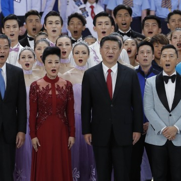 Image: Xi Jinping sings with Carrie Lam