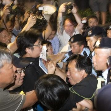 Image: Pro-democracy activists in Hong Kong