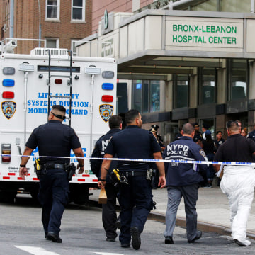 Image: NYPD Crime Scene investigators arrive at Bronx-Lebanon Hospital