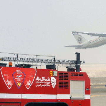 IMAGE: Etihad Airways aircraft at Abu Dhabi International Airport