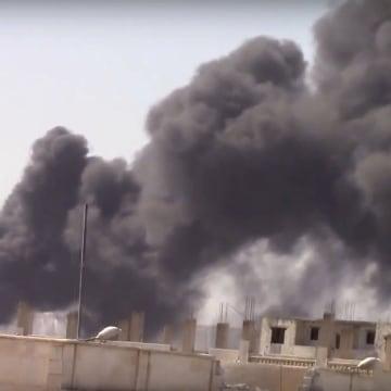 Image: Smoke in Raqqa