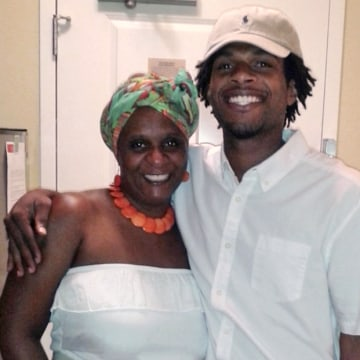 Image: John Crawford III, right, with his mother Tressa Sherrod