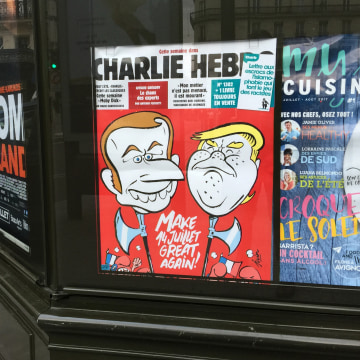 Image: Donald Trump on the cover of Charlie Hebdo