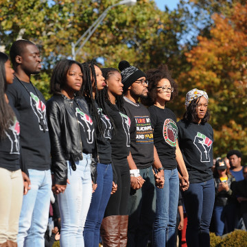 IMAGE: University of Missouri President Resigns As Protests Grow over Racism