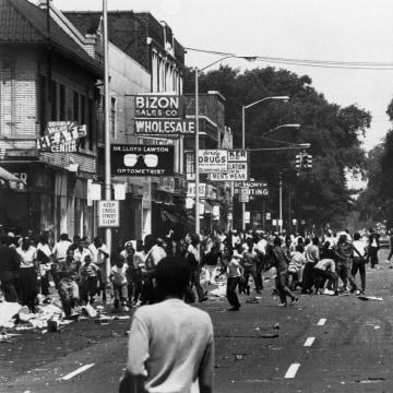 A Black Demonstration In Detroit In 1967