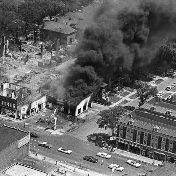 Image: Burning Buildings in Detroit after Riots
