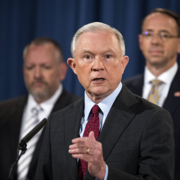 Image: Sessions, Rosenstein, McCabe Announce Cybercrime Bust at Justice