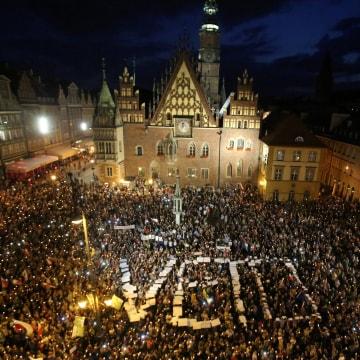 Image: Protestors in Wroclaw