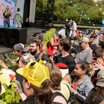 Image: Niantic CEO John Hanke signs autographs for attendees during the Pokemon GO Fest at Grant Park on July 22, 2017 in Chicago, Illinois.