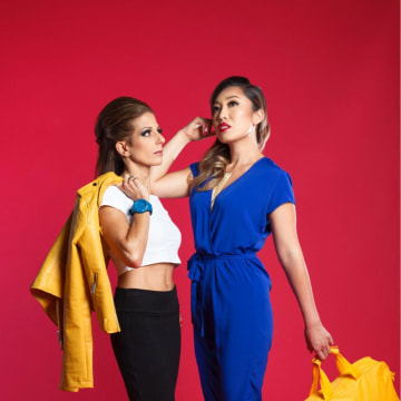 Co-hosts of the Sheroic Podcast: Lisa Bilyeu (left) and Cassey Ho.
