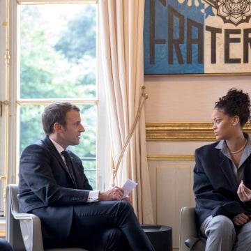 Image; Rihanna Meets Macron