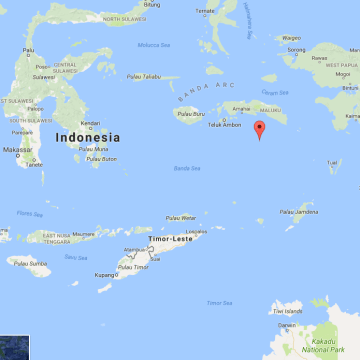 Image: A map shows the location of the Banda Islands