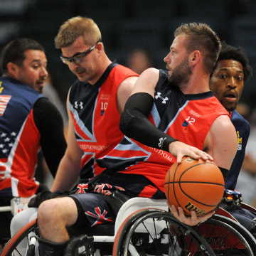 Image: The Wheelchair Basketball Finals at the Invictus Games Orlando