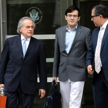 Image: Former drug company executive Martin Shkreli (C) exits U.S. District Court in the Brooklyn borough of New York City