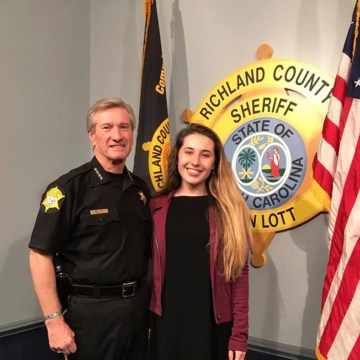 Image: Jordan stands with Richland County Sheriff Leon Lott.