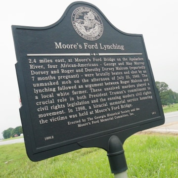 moores ford lynching essay This essay offers a close reading of the 2008 reenactment of the 1946 moore's  ford lynching of four african americans in walton county,.