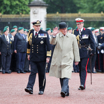 Image: Britain's Prince Philip, Duke of Edinburgh, in his role as Captain General, Royal Marines, attends a Parade