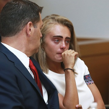 Image: Michelle Carter listens in court