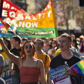 Image: AUSTRALIA-GAY-MARRIAGE-RIGHTS