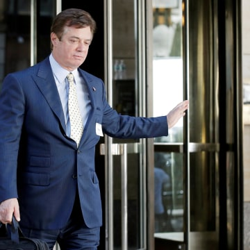 Image: Paul Manafort, senior advisor to Republican U.S. presidential candidate Donald Trump, exits following a meeting of Donald Trump's national finance team in New York