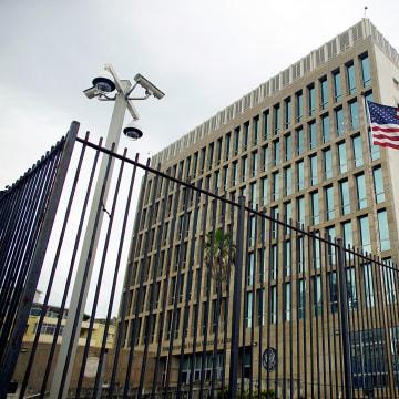 Image: An exterior view of the U.S. Embassy is seen in Havana, Cuba