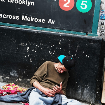 Image: Man on a South Bronx street