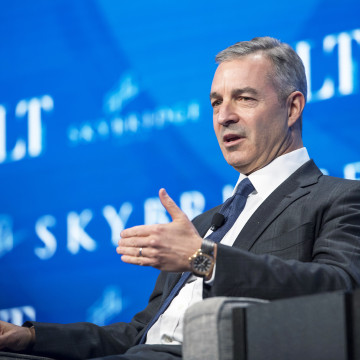 Image: Daniel Loeb, chief executive officer of Third Point LLC, speaks during the Skybridge Alternatives (SALT) conference