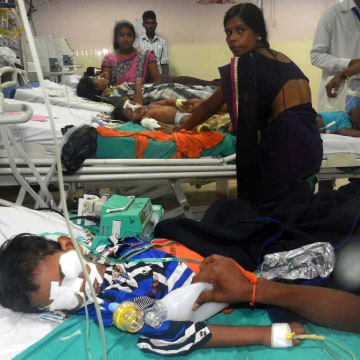 Image: Children undergo treatment at the Baba Raghav Das Hospital